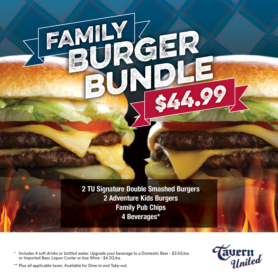 Tavern United Family Burger Bundle Updated April 2021